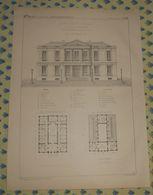 Plan D'un Palais De Justice De Tribunaux Pour Un Chef Lieu D'arrondissement. 1869 - Public Works