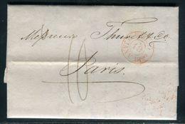 """Lettre (avec Texte ) Du Havre Pour Paris En 1829 , Cachet Rouge Essai Provisoire  """"Le Havre 19 Janv 1829 """" - Ref M57 - 1801-1848: Précurseurs XIX"""