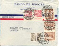 Lettre De Medellin Vers London 1946 Colombie Cover - Colombia