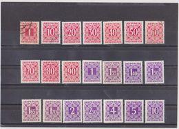 AUTRICHE   1950-57  Taxe  Y.T. N° 228  à  253  Incomplet  NEUF**  NEUF*  Oblitéré - Segnatasse