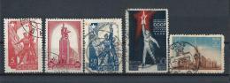 URSS389) 1938 -1939 - EXPO' PARIGI E NEW YORK - 2 Serie Cpl 5val. USED - 1923-1991 URSS