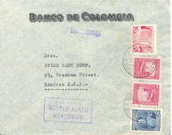 Lettre De Bucaramanga Vers London 1945 Colombie Cover - Colombia