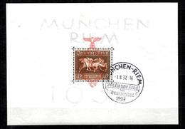Allemagne/Reich Bloc-feuillet Michel N° 10 Oblitération 1er Jour (01/08/37). B/TB. A Saisir! - Blocks & Sheetlets