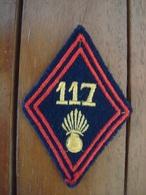 Losange De Bras Mod. 45 Du 117 Em Régiment D'infanterie - AFN -Algérie. - Patches