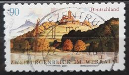 ALEMANIA 2011 Two Castles View In The Werra Valley. USADO - USED. - [7] République Fédérale