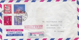 Japan Registered  Cover Posted Kumamoto  1970  W/plenty Of Stamps  (G91-15) - Briefe U. Dokumente