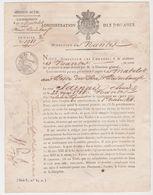 NANTES 44 France -Douanes Certificat Emploi Matelot Bas Paimboeuf 1818- Jarnais Louis - Serment Tampon - Documents Historiques
