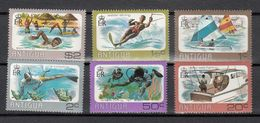 ANTIGUA 1976 - DEPORTES ACUATICOS - YVERT Nº 429-434 - Ski Nautique