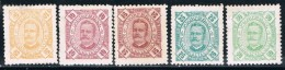 Moçambique, 1893/4, # 29/31, 33, 36, MHNG And MH - Mozambique