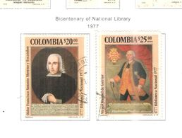 Colombia PA 1977 Bic.Libreria     Scott.C651+652+See Scans On Scott.Page - Colombia