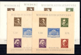 Allemagne/Thuringe Blocs-feuillets YT N° 3 (2) Et N° 3A (3) Neufs ** MNH. TB. A Saisir! - Soviet Zone