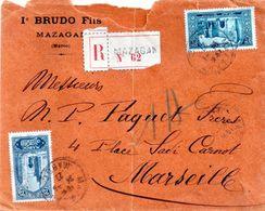 Lettre  Du Maroc Pour Marseille - Morocco (1956-...)