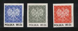 POLAND SOLIDARITY SOLIDARNOSC 1986 PODZIEMNA POCZTA POLSKA EAGLES BEHIND FENCE SET OF 3 - Cinderellas