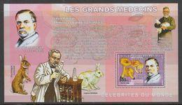 BLOC NEUF DE REP. DEM. DU CONGO - LES GRANDS MEDECINS : LOUIS PASTEUR N° COB 382 - Louis Pasteur