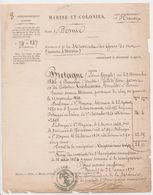 NANTES PORNIC 44 Beauvoir -Marine 3 Mats Registre Matricule Mer Mousses Novices -Bretagne Etat Service 1871 Marin - Documents Historiques