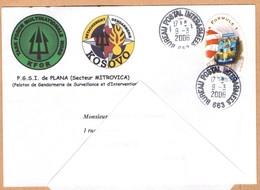 Bureau Postal Militaire 663 De MITROVICA, KOSOVO, Enveloppe De 2006,  KFOR Et Gendarmerie - Kosovo