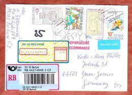 Einschreiben Reco, MiF Martina Sablikova U.a., Bechyne Nach Gross-Gerau, Deutsches R-Label 2010 (48385) - Tschechische Republik
