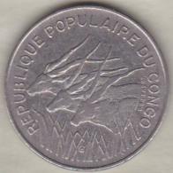 Republique Populaire Du Congo . 100 Francs 1975 , En Nickel .KM# 2 - Congo (Republic 1960)