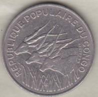 Republique Populaire Du Congo . 100 Francs 1971 , En Nickel .KM# 1 - Congo (Republic 1960)