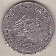 Republique Populaire Du Congo . 100 Francs 1972 , En Nickel .KM# 1 - Congo (Republic 1960)