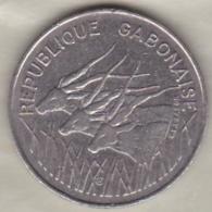 Republique Gabonaise . 100 Francs 1975 , En Cupro Nickel .KM# 13 - Gabon