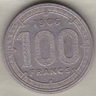 Etats De L´Afrique Equatoriale Banque Centrale. 100 Francs 1966 . KM# 5 - Monedas