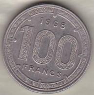 Etats De L´Afrique Equatoriale Banque Centrale. 100 Francs 1968 . KM# 5 - Monnaies