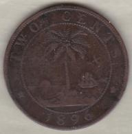 Liberia. 2 Cents 1896. Bronze .KM# 6 - Liberia