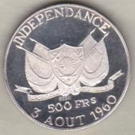 Republique Du NIGER  . 500 Francs Essai 1960 . HAMANI DIORI .Argent - Niger