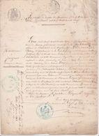 Gavre Blain 44 Extrait Registre Acte Naissance -Juignet François 1835 -tampon Le Coq Maire 1863 -Maillardais Pasgrimaud - Documents Historiques