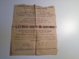 Page, Publicitaire, JOURNAL L'ETOILE , 1885, Construction De La Tour Eiffel - Publicités