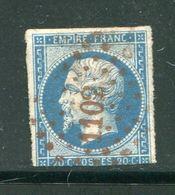 Y&T N°14b- Petit Chiffre Rouge 1102, DIJON (20) - 1853-1860 Napoleon III