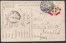 ITALIE - Cartolina Postale En Franchigia, Corrispondanza Del R.Esercite, Cad Posta Militare 66 A Du 21-8-1917 - Censure. - 1900-44 Vittorio Emanuele III