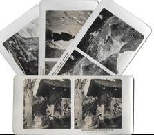 Collection Stéréoscopique LOT De 4 Photos Stéréoscopiques GALACTINA N°56-19-18-17/ GRINDELWAD  (Berne) Suisse/ NPG 1906 - Stereoscopic