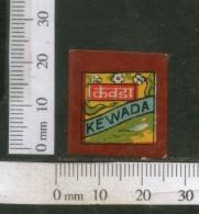 India Vintage Trade Label Kewada Water Label Flower Of Screnpine # 492 - Etiquettes