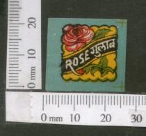 India Vintage Trade Label Gulab Rose Water Label Flower # 1739 - Etiquettes