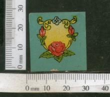 India Vintage Trade Label Blank Essential Oil Label Rose Flower # 1918 - Etiquettes