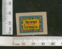 India Vintage Trade Label Kewada Water Label Flower Of Screnpine # 2410 - Etiquettes