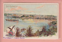 OLD POSTCARD   -  1900'S LITHO - AUSTRALIA - SYDNEY - ADVERTISING FERNET BRANCA - Sydney
