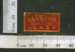 India Vintage Trade Label Belgium Superior Glass Label # 4301 - Labels