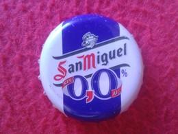 CHAPA DE SPAIN ESPAÑA USADA USED BOTTLE CROWN CAP KRONKORKEN CAPSULE TAPPI CORONA SAN MIGUEL 0,0 ALCOHOL SIN VER - Bière