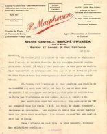 ANGLETERRE SWANSEA COURRIER 1922 Fruit  Pommes De Terre MACPHERSON  A27 - United Kingdom