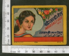 India Vintage Trade Label Morsali Essential Oil Label Women # LBL74 - Etiquettes