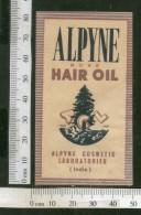 India Vintage Trade Label Alpyne Rose Essential Hair Oil Label # LBL76 - Labels