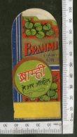 India Vintage Trade Label Brahmi Essential Hair Oil Label # LBL79 - Labels