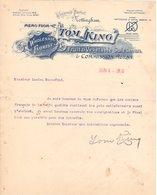 ANGLETERRE NOTTINGHAM COURRIER 1910 Fruit  & Vegetable Salesmen TOM KING   A27 - United Kingdom