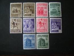 REGNO - Repubblica Sociale 1944-45, Monumenti, Sass. 502/511, Serie Cpl, MNH**. TTB, Occasione - 4. 1944-45 Social Republic