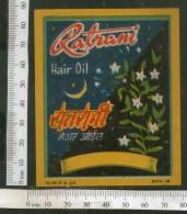 India Vintage Trade Label Ratrani Essential Hair Oil Label Moon # LBL85 - Labels