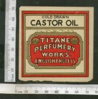India Vintage Trade Label Cold Drawn Castor Oil Label # LBL92 - Labels