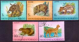 TRINIDAD & TOBAGO 1971 SG #392-96 Compl.set Used Trinidad Wildlife - Trinidad & Tobago (1962-...)